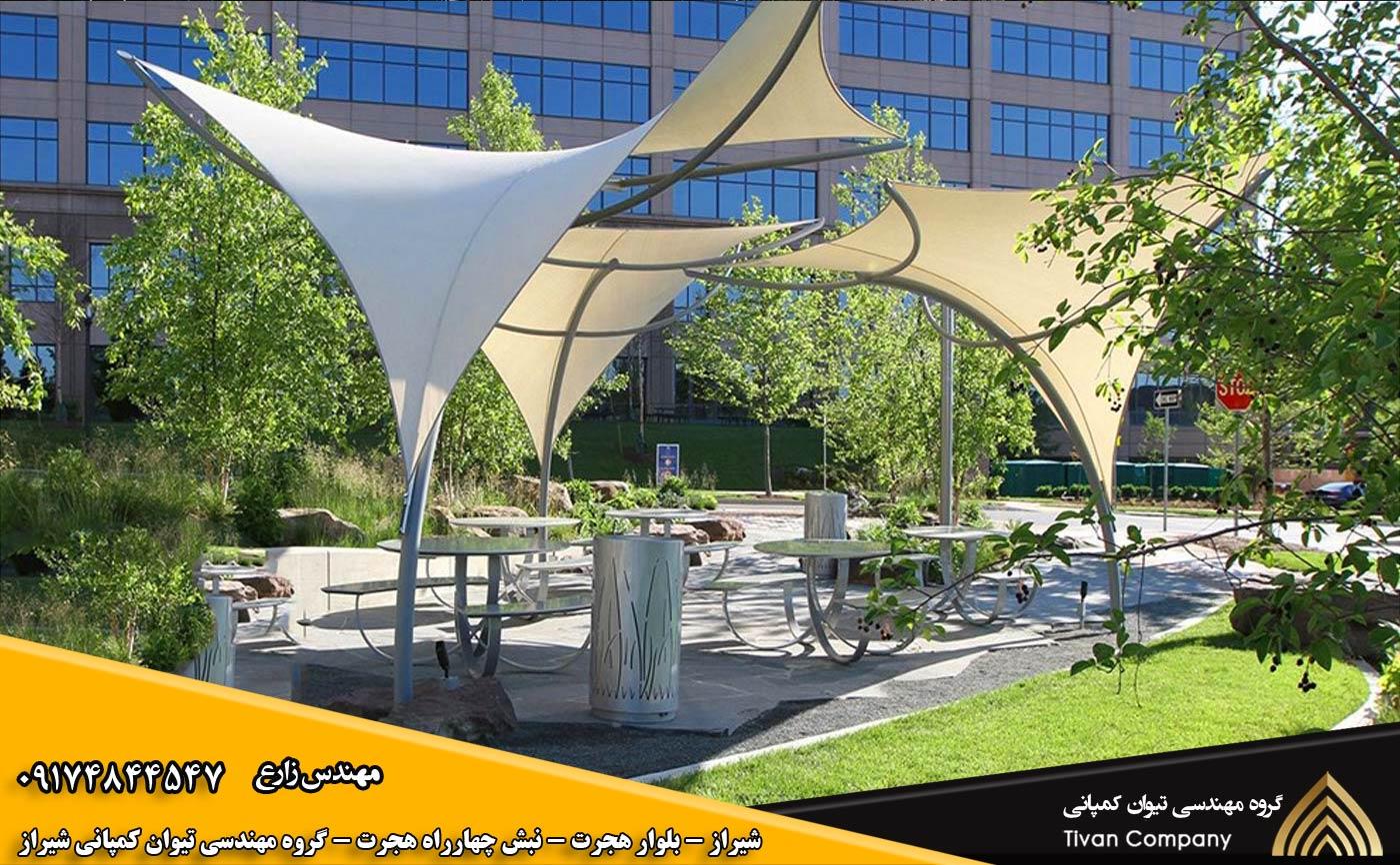 سازه های پارچه ای المان شهری در شیراز