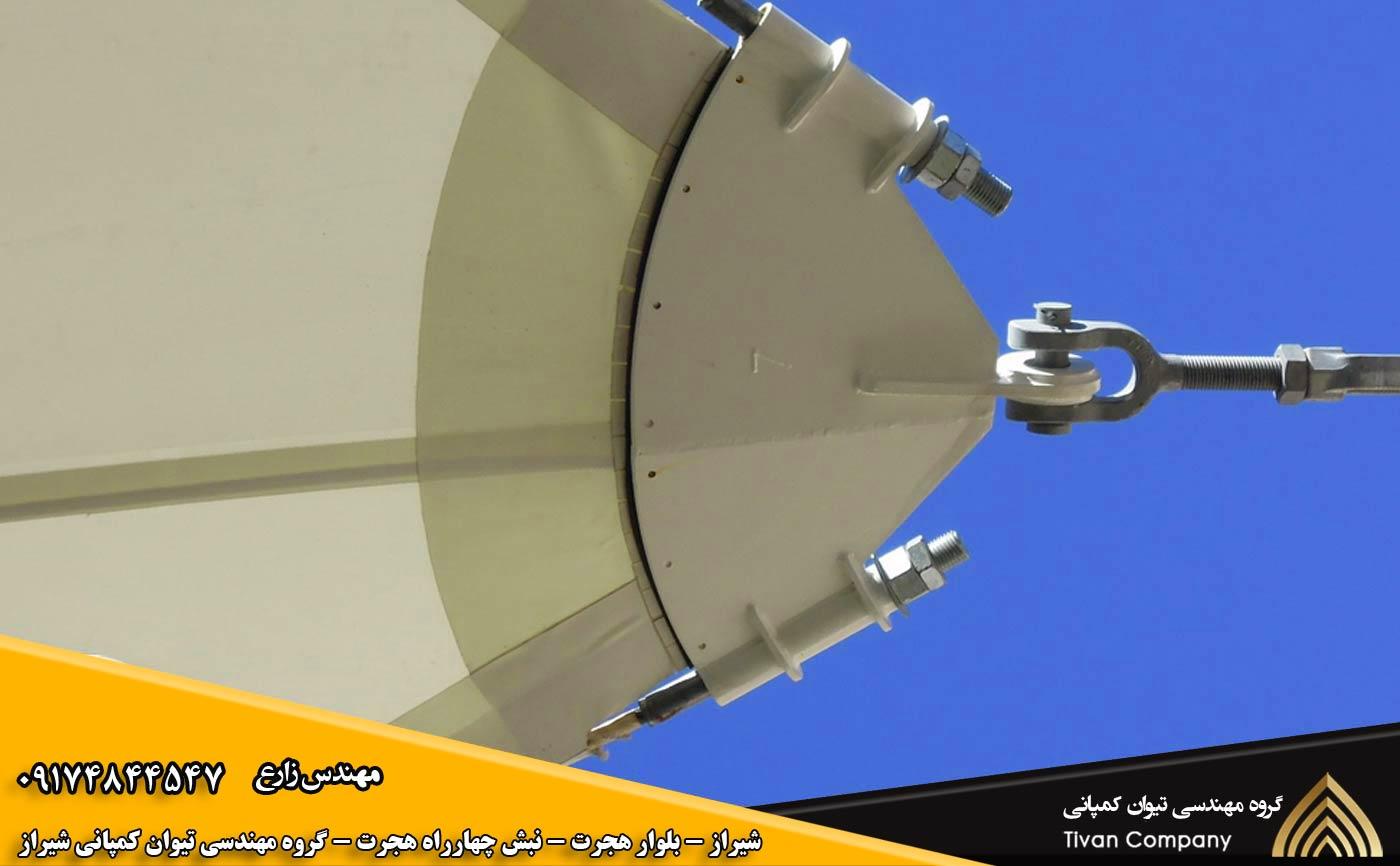 نصب اتصالات سازه های پارچه ای در شیراز