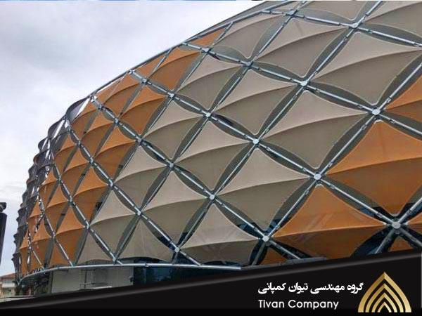 سازه پارچه ای نمای ساختمان