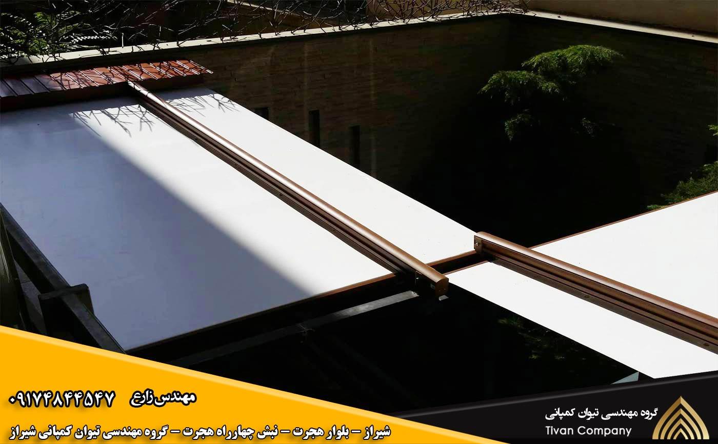 سازه های کششی متحرک | سایبان پارچه ای متحرک پارکینگ