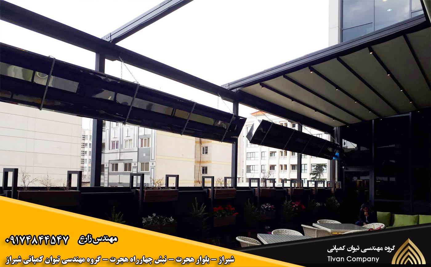 سازه های کششی متحرک | سایبان پارچه ای متحرک زمستانی