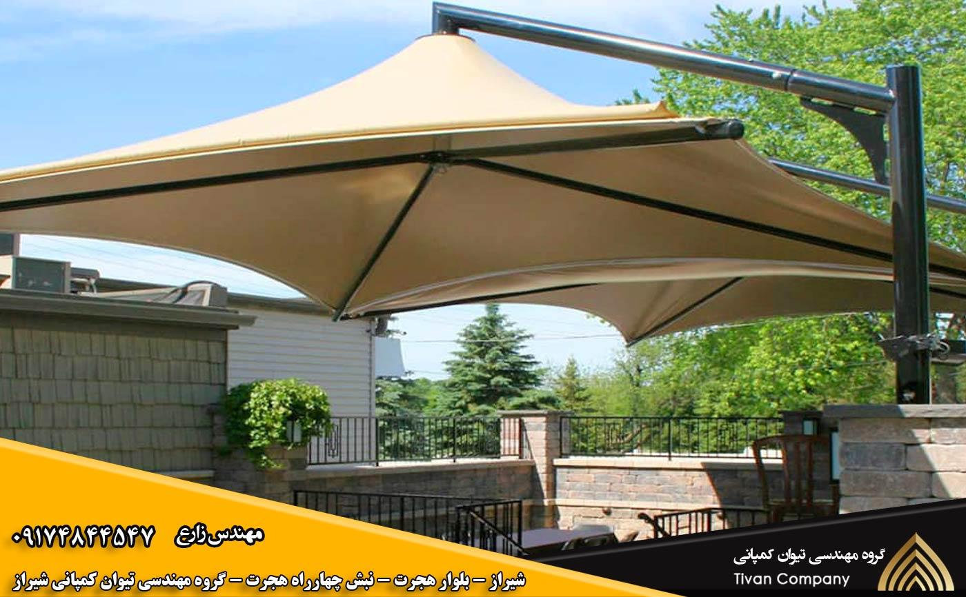 سازه های پارچه ای کافه و رستوران در شیراز