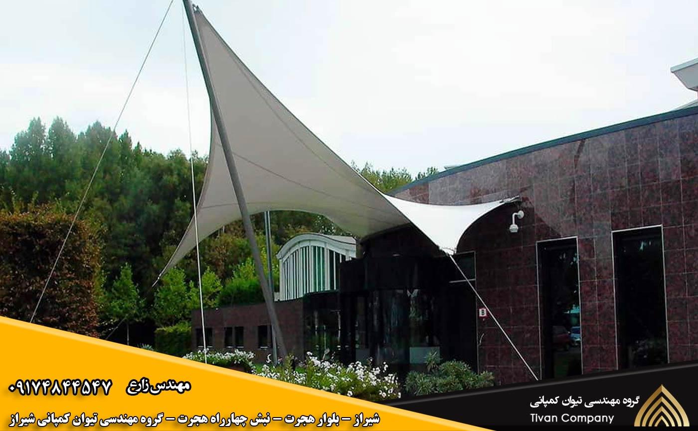سازه های پارچه ای کششی ورودی ها در شیراز