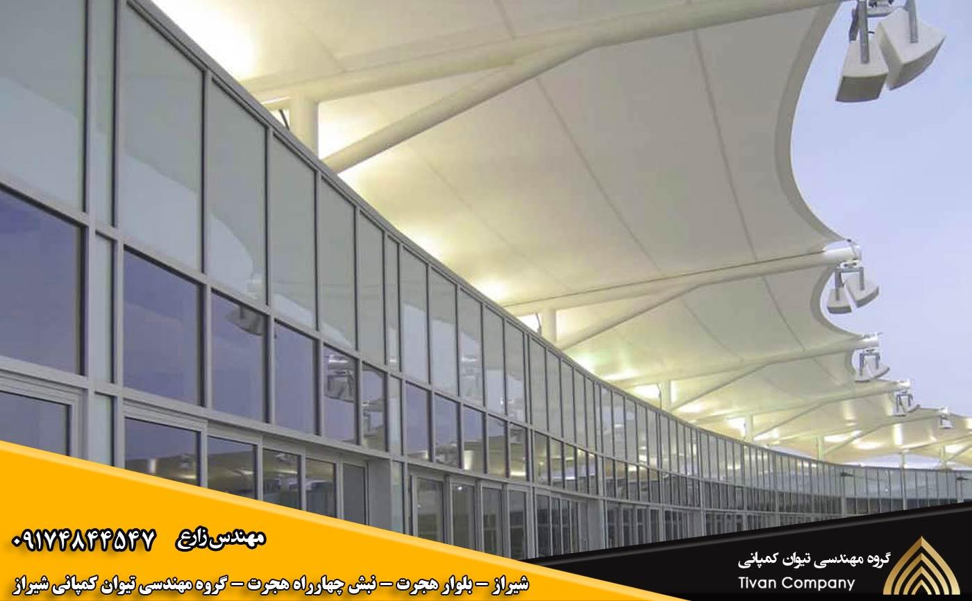 سازه های پارچه ای غشایی ورودی ها در شیراز