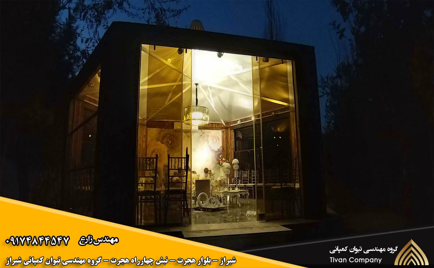 سازه های کششی | سایبان پارچه ای در شیراز