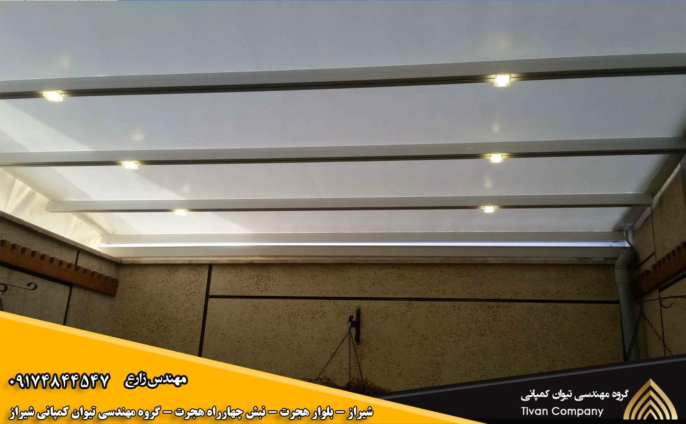 سازه های کششی | سایبان پارچه ای | سایبان غشایی در شیراز